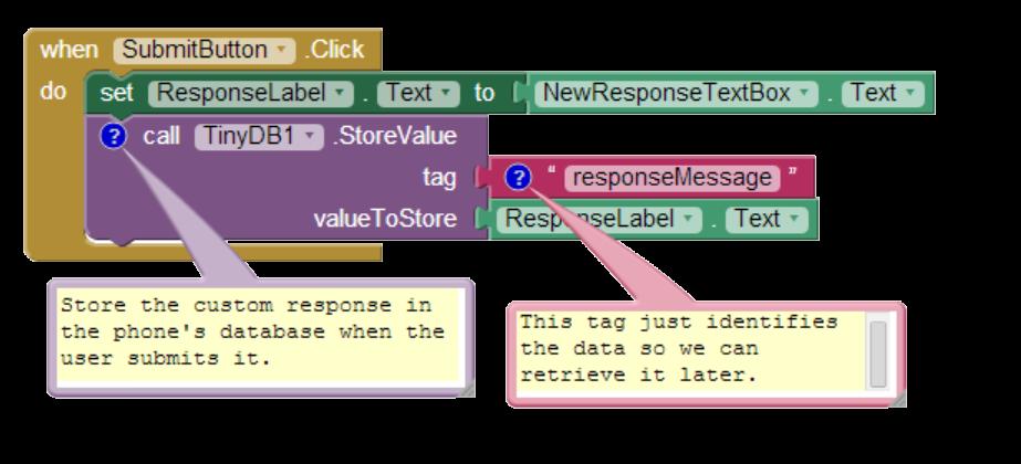 Storing Data with TinyWebDB