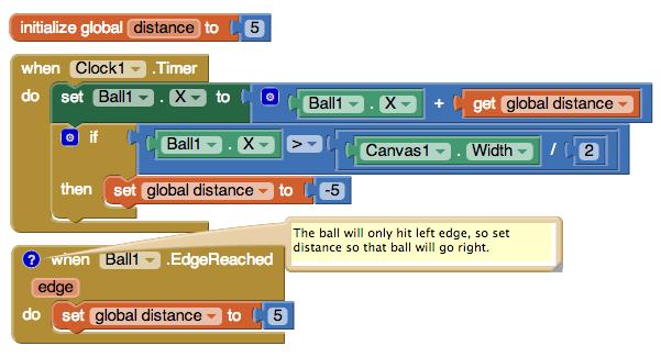 how to make ball do random movement mit app inventor