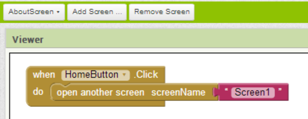 Example 1  How do you swap between two or more screens?