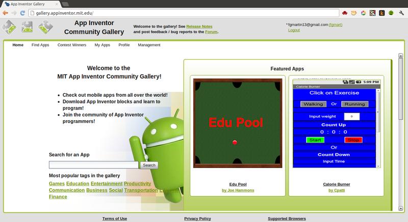 App Inventor Gallery